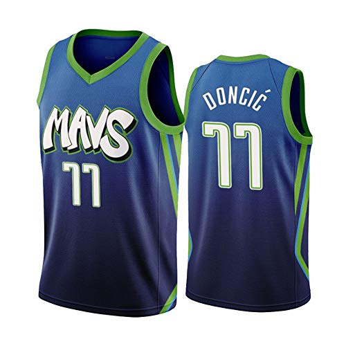 ZNMJW Mavericks # 77 Doncic Jersey Basketbal Game Trainingspak Klassiek Mouwloos Outfit