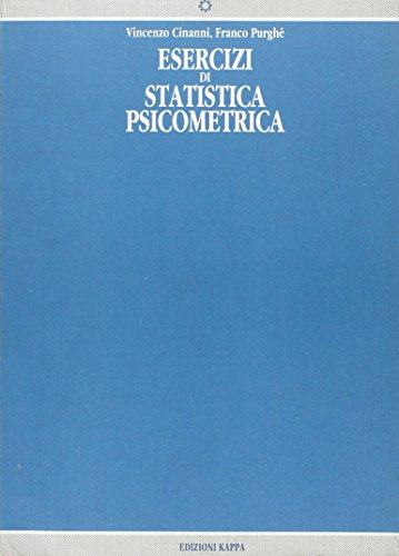 Esercizi di statistica psicometrica