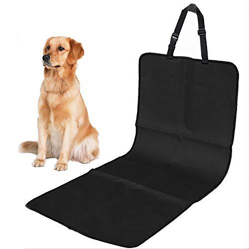 ALLOMN Estera del Coche del Animal Doméstico, 100x50cm Cubierta de Asiento de Perro Mascota Protector Trasero de Coche para Mascotas Asiento de Seguridad para Mascotas, a Prueba de Rayones (Negro)