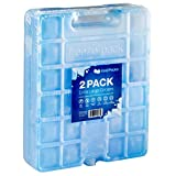 KoldPacks 2 Extra Large Reusable Ice Packs for Camping - 10 inch x 8 inch x 1.2 inch
