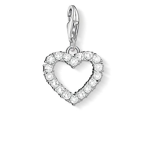 Thomas Sabo Damen-Anhänger Romantisches Herz 925 Sterling Silber 1482-051-14