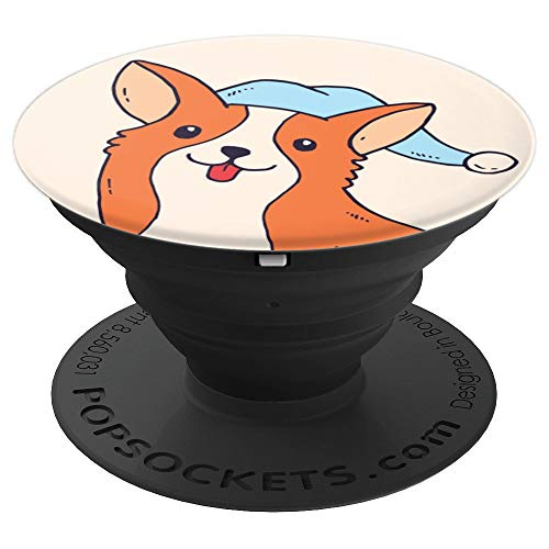 Welsh Corgi Pajama Kawaii Cartoon Cute Animal Dog Lover Gift PopSockets Grip and Stand for Phones and Tablets