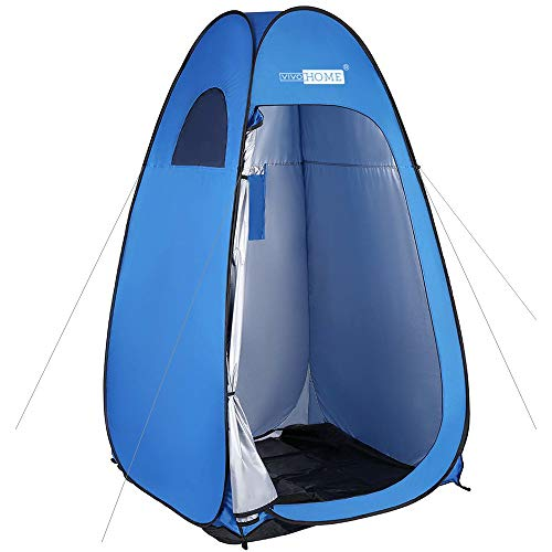 VIVOHOME 7FT Height Privacy Shelter, Portable Easy Pop up Dressing Changing Room, Ultraviolet-Proof Camping Shower Tent