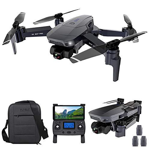 GoolRC SG907 Pro GPS RC Drone con Cámara 4K 2 Ejes Gimbal 5G WiFi FPV Posicionamiento de Flujo óptico Quadcopter Punto de Interés Waypoint Vuelo 800m Distancia de Control con Bolsas 3 Baterías