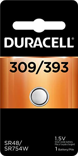 Duracell - 309/393 Silver Oxide Button Battery - long lasting battery - 1 count