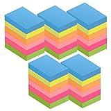 ZCZN Foglietti autoadesivi da 51 x 38 mm, 6 colori da 3000 fogli, 100 fogli per blocchetto autoadesivi, adatti per appunti, messaggi, richiami, 30 blocchi