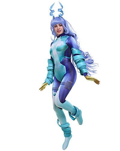 miccostumes Women's Nejire Hado Hero 3D Printed Bodysuit Cosplay Costume with Accessories (XL, Multicolored)