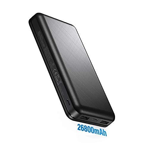 IEsafy Batterie Externe 26800mAh Chargeur Portable Haute Vitesse avec 2 Ports d'Entrées Micro/Type-C et 2 Sorties, Compatible avec Tous Les Smartphones comme iPhone Huawei Xiaomi Redmi Samsung etc.