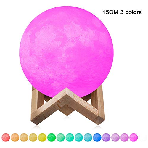 Aufladbare LED Lunar Moon Night Light 3D Moonlight Table Lamp für das Kinderzimmer LO88, Berühren