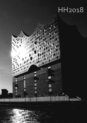 Kalender 2018 - Hamburg Black & White: Wochenkalender - DIN A5 - Eine Woche pro Doppelseite