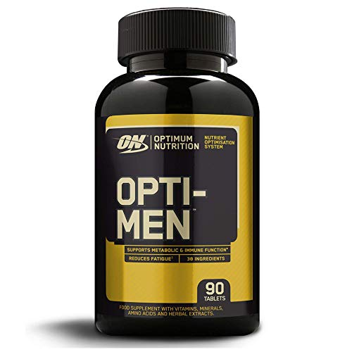Optimum Nutrition Opti-Men Multivitamin Supplements for Men with Vitamin D, Vitamin C, Vitamin A and Amino Acids, 30 Servings, 90 Capsules