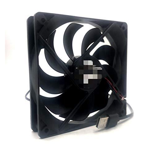 Ventilador silencioso Ventilador de Ventilador USB Ventilador de refrigeración DIY PC Radiador TV Caja de TV inalámbrica Mute DC 5V USB Power 120mm Ventilador 120x25mm 12 cm con Neta de protección de