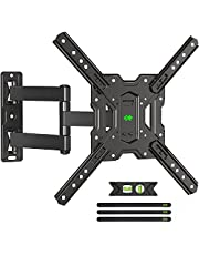 USX MOUNT Full Motion TV Mount for Most 26-55 Inch TVs, TV Wall Mount Swivel and Tilt Extend, TV Mounts Wall Mount TV Bracket, Perfect Corner Center Design,Up to VESA 400x400mm and 77lbs