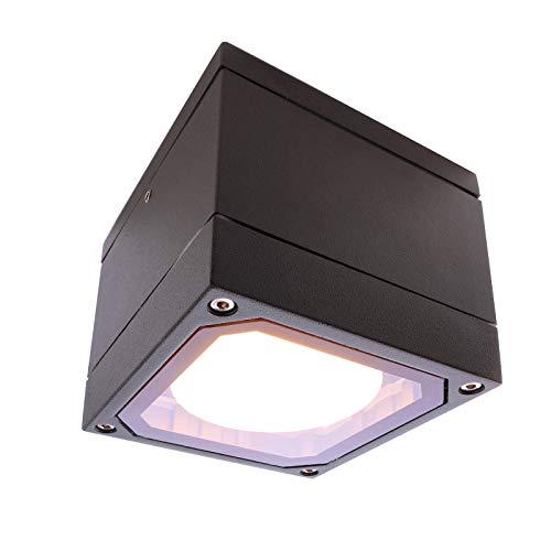 Quadratische Deckenstrahler für Duschkabine Dampfbad Sauna Lampe LED 6W GX53 230V