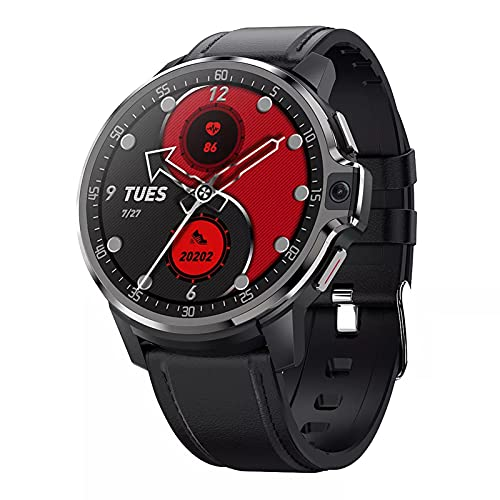 LEMP Reloj Inteligente Con Bluetooth Para Llamadas 4G, Smartwatch Con Sistema De Doble Chip Y Pantalla Táctil Redonda Deslumbrante De 1.6 Pulgadas Memoria 4G+64G Cámara Dual De 5MP+5MP Batería 1050M