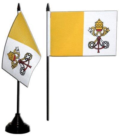 Tischflagge / Tischfahne Vatikan + gratis Aufkleber, Flaggenfritze®