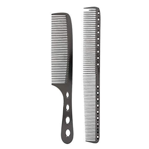 Kamm aus Edelstahl, professioneller Kamm gegen Statik, für Friseure, Friseurkämme für Friseurfrisuren, zum Schneiden von Haaren, Stylen und Frisieren (1#)