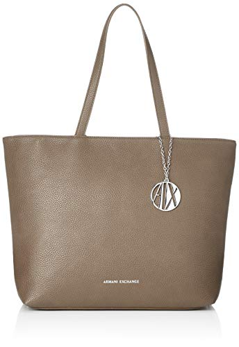 ARMANI EXCHANGE Womans Shopping - Borse Tote Donna, Marrone (Taupe),...