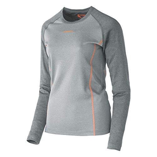 Trangoworld Trx2 Wool WM Pro Camiseta Interior, Mujer, Gris Claro/Gris Oscuro, 2XL