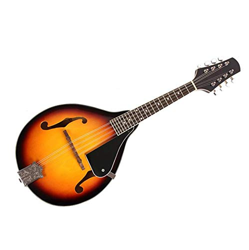Mandolin; Elegant A-Style 8-String Mandolins Musical Instruments Mandolin Set With Guard Board; Birthday Holiday Christmas Gift For Kids Teens & Adults; Sunset Color