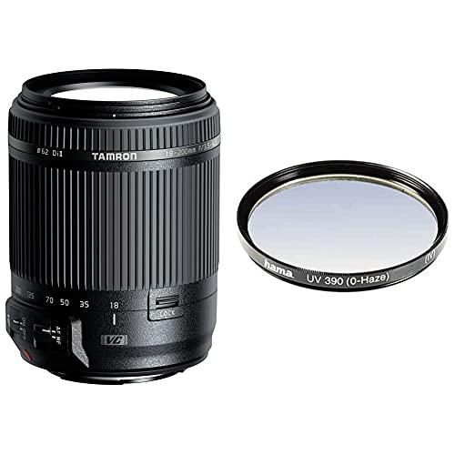 Tamron AF 18-200 mm F/3.5-6.3 XR Di II VC - Objetivo para cámara Canon (Distancia Focal 18-200mm, Apertura f/3.5-6.3), Color Negro + Hama 070062 - Filtro Ultravioleta, Color Neutro, 62 mm