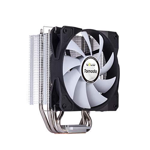 GELID Tornado | Tower CPU Kühler mit 4 vernickelten Power Heat Pipes | Fortschrittlicher kupferbasierter Kühlkörper | Hoher Luftstrom | 120 mm Silent Fan | TDP 160W.