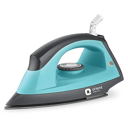 Orient Electric DIFP10BP Fabric Press Dry Iron (Black and Blue)