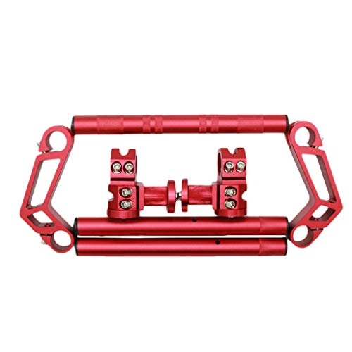 #N/a Juego de Manillar de Motocicleta de 7/8 Pulgadas para Grom MSX 125 - Rojo