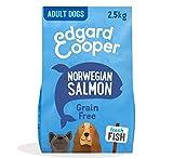 Edgard & Cooper pienso para Perros Adultos sin Cereales, Natural con Salmón Fresco, 2.5kg. Comida Premium balanceada sin harinas de Carne ni Carnes sobreprocesadas, cocinada a Baja Temperatura