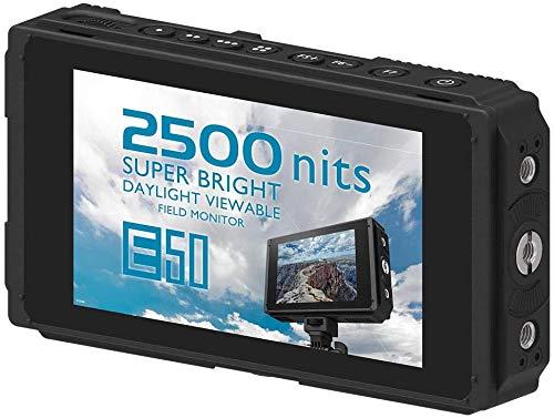 Fotga E50 Touchscreen Kamera Feldmonitor 2500nit Ultra Bright Field Monitor mit 3D-LUT, Wavaform, Vektor, 4K-HDMI-EIN- / Ausgang, Doppelatterie, IPS, 3G SDI, für Nikon BMPCC DSLR-Kamera Camcorder