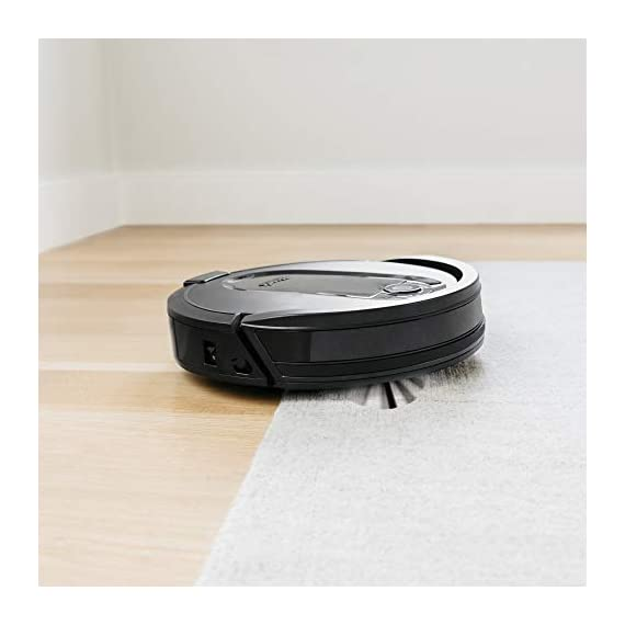 Shark IQ RV1001, Wi-Fi Connected, Home Mapping Robot Vacuum, Without Auto-Empty dock, Black 12 Unbeatable suction vs. any Shark robot vacuum for pickup of large and small debris, as well as pet hair on carpets and hard-floors. Self-cleaning brushroll removes pet hair and long hair from the brushroll as it cleans--no more hair wrap. Schedule whole-home cleanings or target specific rooms or areas to clean right now with the Shark Clean app or voice control with Amazon Alexa or Google Assistant.