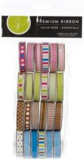 in Tessuto Taglia Unica 24 Pezzi American Crafts Multicolore Nastri Assortiti