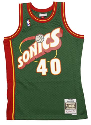 Mitchell & Ness Shawn Kemp #40 Seattle SuperSonics 1995-96 Swingman NBA Trikot Grün, M