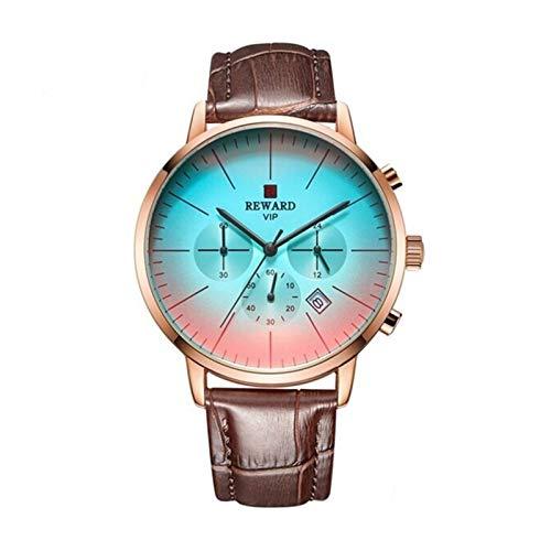 JCCOZ-URG 2020 Nuevo de la Manera del Color Brillante Vidrio de Reloj Hombres más Lujo de la Marca de los Hombres del cronógrafo de Acero Inoxidable Reloj de Negocios Hombres Reloj de Pulsera UR