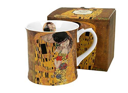 DUO Colección Art Gallery by Klimt The Kiss - Taza de porcelana china (460 ml, en caja de regalo)