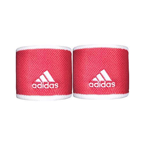 adidas Tennis WB S Handgelenkbandage, Erwachsene, Unisex, Rosint/Weiß/Weiß (Mehrfarbig), Einheitsgröße