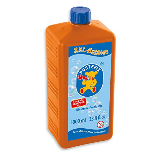 PUSTEFIX XXL-Bubbles Nachfüllflasche Maxi I 1000ml Seifenblasenwasser I Bubbles Made in Germany I Seifenblasen für Hochzeit, Kindergeburtstag, Polterabend I Riesen-Seifenblasen für Kinder & Erwachsene