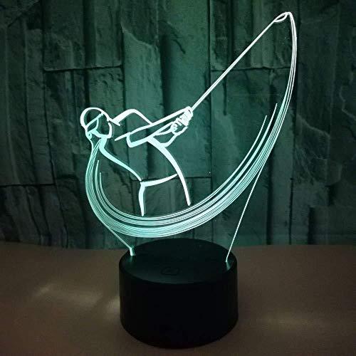 Nieuwe Golf 3D nachtlampje kleurrijk Touch Gradient LED energiebesparende baby bedlampje geschenk USB opladen decoratie