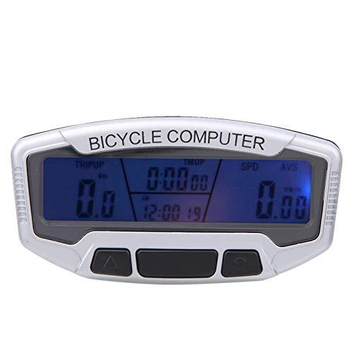 FOLOSAFENAR Cuentakilómetros para Bicicleta con retroiluminación Azul, para Bicicleta, para Montar