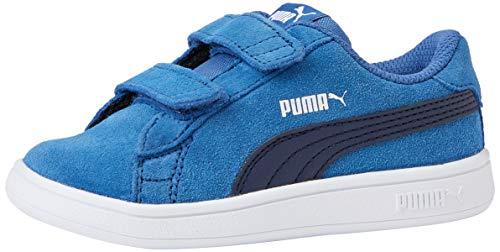 Puma Unisex-Kinder Smash v2 SD V Inf Zapatillas, Blau (Bright Cobalt-Peacoat White), 22 EU