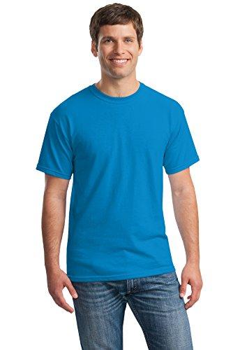 Gildan T-shirt à manches courtes en coton épais pour homme - bleu - XXL