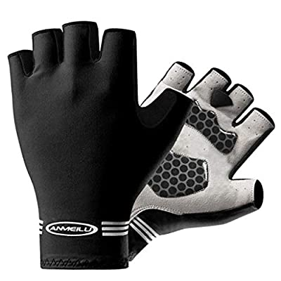 justHIGH Cycling Gloves Men Bicycle Gloves Half Finger Gel Pad Shock-Absorbing Mountain Bike Gloves, Anti- Slip Road Riding Gloves Breathable Sports Gloves Accessories for Men/Women