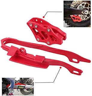 Chain Slider Chain Guide Kit Motorcycle Guard Protector For Honda CR125R CR250R CRF450X 2005-2007 CRF250R CRF450R 2005-2006 CRF250X 2006 Red