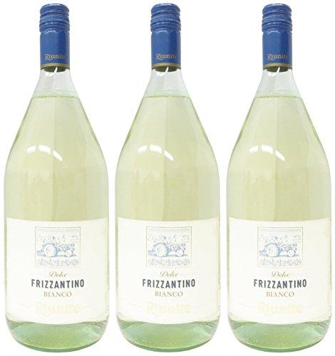 3 X Frizzantino bianco Cantine Riunite 1,5 L Perlwein weiß süß 7,5% Vol.