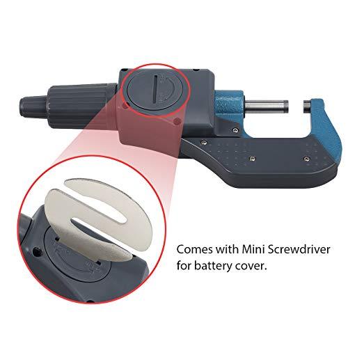 Micromètre numérique LCD 0-25 mm / 0-1 'Micromètre électronique externe de haute précision Calibre numérique Mode absolu et mode incrémental Mesure Pouce / Métrique