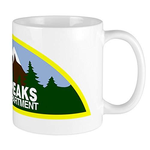 CafePress Twin Peaks Sheriff Department Tasse, keramik, Weiß, Größe S
