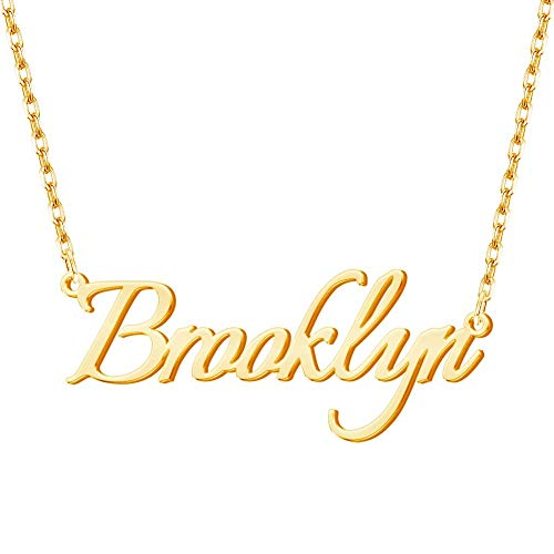 Custom Name Necklace Personalized Name Necklace 18K Gold Plated Jewelry Gift for Women
