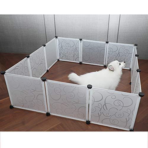 Clôture pour animaux de Compagnie, chenil Lunette clôture intérieure Chien Cage Cage de Chat clôture d'isolation Porte Bar Petit Chien en Plastique Coutures gratuites Aucun Espace