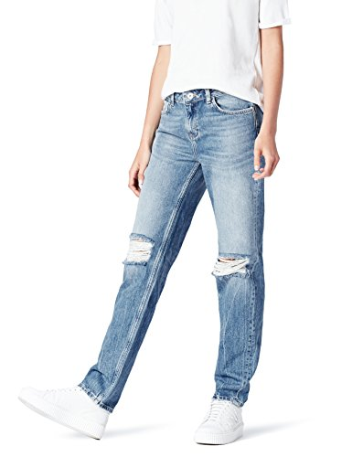 Amazon-Marke: find. Damen Skinny Jeans und Rissen, Blau (Mid Blue), 30W / 32L, Label: 30W / 32L