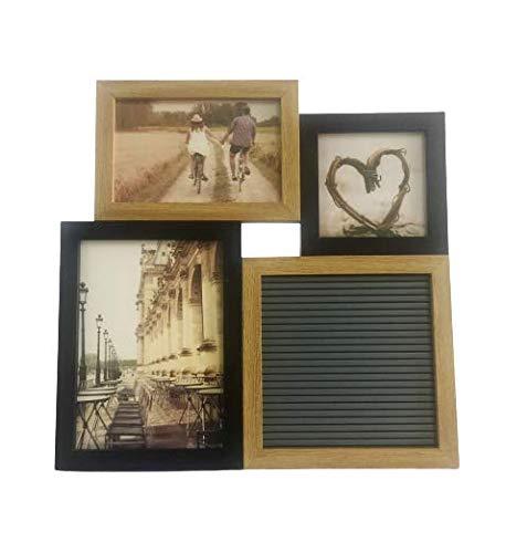 Quadro Com Porta Retrato Para 3 Fotos E Letter Board